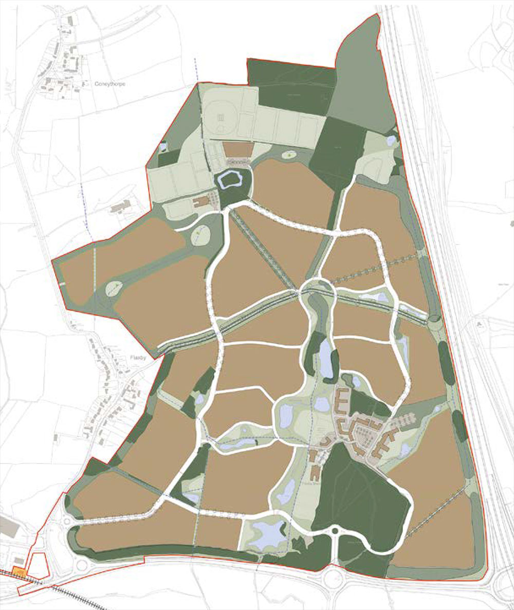 Flaxby Park site plan